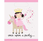 Feestzakjes Prinses met eenhoorn 8 stuks