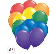 Joni's Winkel Ballonnen Regenboog 12 stuks 27 cm