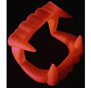 Joni's Glow-Shop Fluor oranje vampier gebit