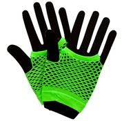 Joni's Glow-Shop Fishnet handschoenen Fluor groen / Fishnet gloves Neon Green