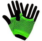 Joni's Glow-Shop Fishnet handschoenen Fluor groen / Fishnet gloves Neon Green
