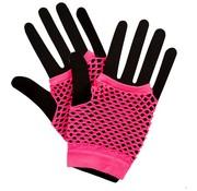 Joni's Glow-Shop Fishnet handschoenen fluor roze / Fishnet gloves neon pink