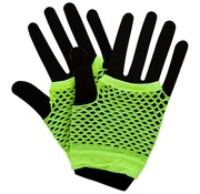 Joni's Glow-Shop Fishnet handschoenen fluor geel / Fishnet gloves neon yellow