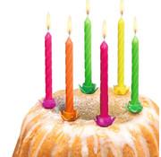 Joni's Glow-Shop Taartkaarsjes Fluor - Cake candles neon 24 st