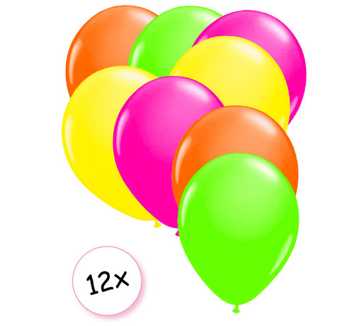 Joni's Glow-Shop Ballonnen Neon 12 stuks 27 cm