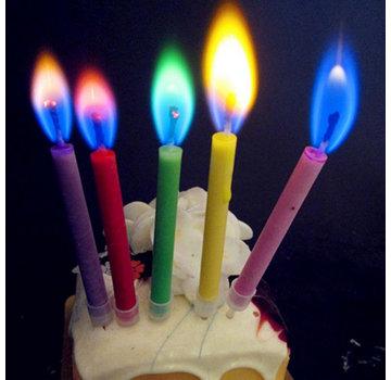 Joni's Glow-Shop Kaarsjes met gekleurde vlammen - Candles with colored flames 12 st