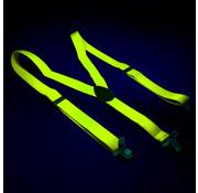 Joni's Glow-Shop Bretels fluor geel -  Suspenders neon yellow