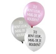 PartyXplosion Ballonnen Jij bent leuk, Mag ik je houden? 36 cm 6 stuks