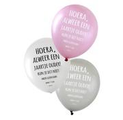 PartyXplosion Ballonnen Hoera, alweer een jaartje ouder! 36 cm 6 stuks