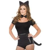 Carnavalset Kat zwart