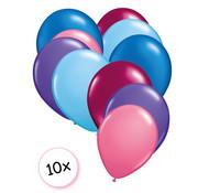 Joni's Glow-Shop Ballonnen Zeemeermin 10 stuks 27 cm