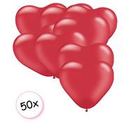 Joni's Glow-Shop Ballonnen hartjes rood 50 stuks 26 cm
