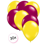Joni's Winkel Ballonnen Geel & Fuchsia 30 stuks 27 cm