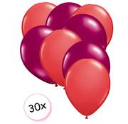 Joni's Winkel Ballonnen Rood & Fuchsia 30 stuks 27 cm