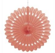 Joni's Winkel Honeycomb waaier Roze/Zalm 63 cm