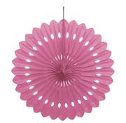 Joni's Winkel Honeycomb waaier Wit/Roze 63 cm