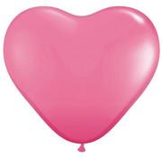 Joni's Winkel MEGA Topping hart ballon 80 cm roze