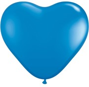 Joni's Winkel MEGA Topping hart ballon 80 cm blauw