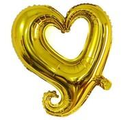 Joni's Winkel Folieballon Fantasie hart goud 45 cm