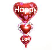 Joni's Winkel Folieballon Happy valentijns day 80 x 40 cm