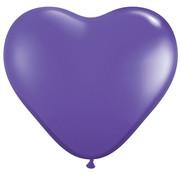 Joni's Winkel MEGA Topping hart ballon 90 cm paars