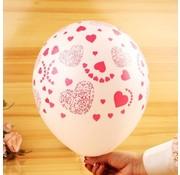 Joni's Winkel Ballonnen Love rood-wit/wit-rood 8 stuks 32 cm