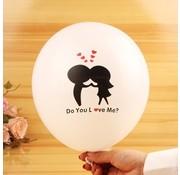 Joni's Winkel Ballonnen Do you love me? 8 stuks 32 cm