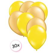 Joni's Winkel Ballonnen Geel & Goud 30 stuks 27 cm