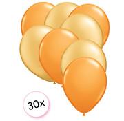 Joni's Winkel Ballonnen Oranje & Goud 30 stuks 27 cm