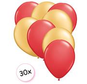 Joni's Winkel Ballonnen Rood & Goud 30 stuks 27 cm