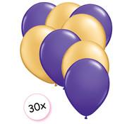 Joni's Winkel Ballonnen Paars & Goud 30 stuks 27 cm