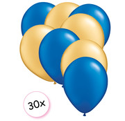 Joni's Winkel Ballonnen Blauw & Goud 30 stuks 27 cm