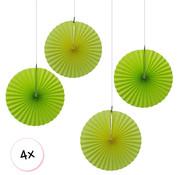 Joni's Winkel Waaiers Licht groen & Geel 4 stuks 30 cm