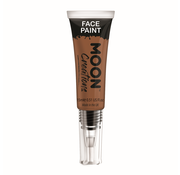 Moon Creations Moon-Creations Body & Face paint met kwast Bruin