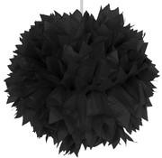 Folat Pompom Zwart 30 cm