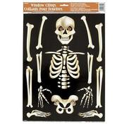 UNIQUE Raamsticker skelet