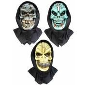 PartyXplosion Skull masker blauw/groen