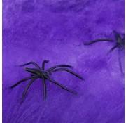 Joni's Winkel Halloween Spinnenweb Paars 20 gr. Met 2 spinnen