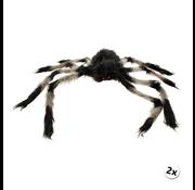 Joni's Winkel Harige spin Zwart/Grijs 75 cm 2 x