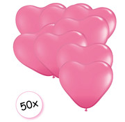 Joni's Winkel Ballonnen hartjes roze 50 stuks 26 cm