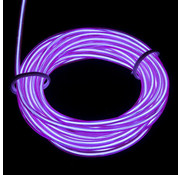Joni's Glow-Shop EL Wire / Draad - Paars/Purple - met 12 volt omvormer 1 meter