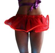 Joni's Glow-Shop El wire tutu rokje Rood - El wire tutu skirt Red