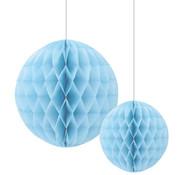 Joni's Winkel Honeycomb Decoratie bol Licht blauw 20/30 cm