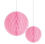 Joni's Winkel Honeycomb Decoratie bol Licht roze 20/30 cm