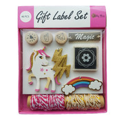 Joni's Winkel Cadeau labels Eenhoorn Roze 46 delig
