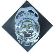 PartyXplosion Boob Inspector badge met speld