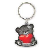 """Miko Luxe sleutelhanger """"Papa & Mama"""""""
