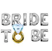 Joni's Winkel Ballonnen set Bride to be met ring zilver