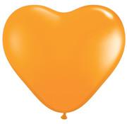 Joni's Winkel MEGA Topping hart ballon 80 cm oranje