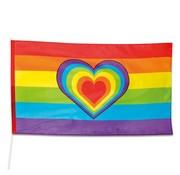 Joni's Winkel Gevelvlag Regenboog met hart 150x90 cm